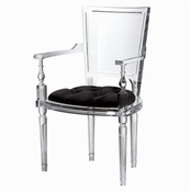 Global Views Marilyn Acrylic Arm Chair-Black