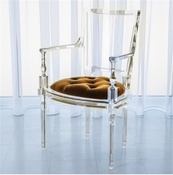 Global Views Marilyn Acrylic Arm Chair-Brown Sugar-Gold
