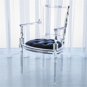 Global Views Marilyn Acrylic Arm Chair-Customers Own Material