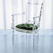 Global Views Marilyn Acrylic Arm Chair-Emerald Green
