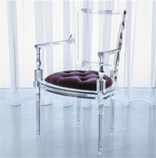 Global Views Marilyn Acrylic Arm Chair-Sultana-Lavender