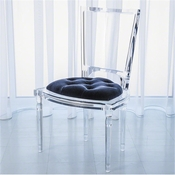 Global Views Marilyn Acrylic Side Chair-Admiral Blue