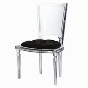 Global Views Marilyn Acrylic Side Chair-Black