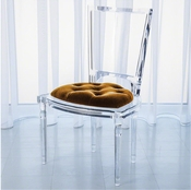 Global Views Marilyn Acrylic Side Chair-Brown Sugar-Gold