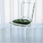 Global Views Marilyn Acrylic Side Chair-Emerald Green