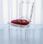 Global Views Marilyn Acrylic Side Chair-Red Pepper