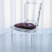 Global Views Marilyn Acrylic Side Chair-Sultana-Lavender