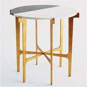 Global Views Maxwell Side Table-Gold Leaf