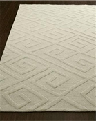 Global Views Maze Rug-Ivory-6' x 9'