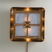 Global Views Maze Wall Sconce-Copper