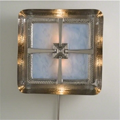 Global Views Maze Wall Sconce-Nickel