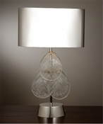 Global Views Murano Glass Leaf Table Lamp-Nickel
