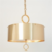 Global Views O Pendant Chandelier-Brushed Brass-Large