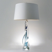 Global Views Ocean Twist Lamp with Silk Shade