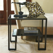 Global Views One-Up Table-Bronze Finish