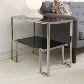 Global Views One-Up Table-Stainless Steel Finish