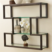 Global Views One Up Wall Shelf-Bronze Finish