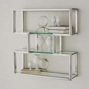 Global Views One Up Wall Shelf-Stainless Steel Finish