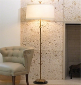 Global Views Organic Floor Lamp-Antique Brass Finish