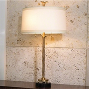 Global Views Organic Table Lamp-Antique Brass Finish