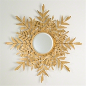 Global Views Palm Leaf Mirror-Gold