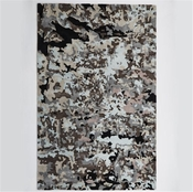 Global Views Peeling Paint Rug-Grey/Black-6' x 9'