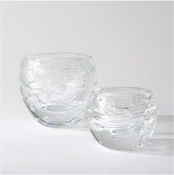 Global Views Phyllo Vase-Clear Swirl-Large