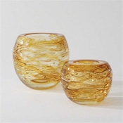 Global Views Phyllo Vase-Golden-Large