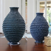 Global Views Pinecone Vase-Cobalt-Small