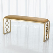 Global Views Progressive Ring Bench-Brass-Brown Sugar