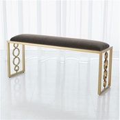 Global Views Progressive Ring Bench-Brass-Pewter