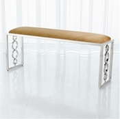 Global Views Progressive Ring Bench-Nickel-Brown Sugar