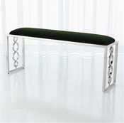 Global Views Progressive Ring Bench-Nickel-Emerald Green
