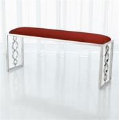 Global Views Progressive Ring Bench-Nickel-Red Pepper