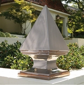 Global Views Pyramid Obelisk-Grey