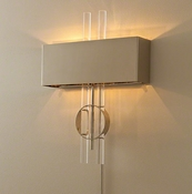 Global Views Radio City Electrified Wall Sconce-Nickel