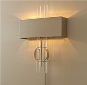 Global Views Radio City Hardwired Wall Sconce-Nickel
