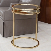 Global Views Ring Table-Brass