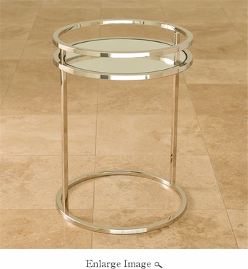 Global Views Ring Table-Nickel