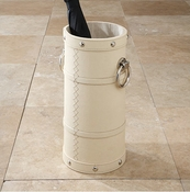 Global Views Ring Umbrella Stand-Ivory