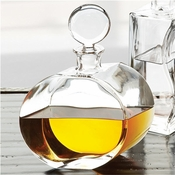 Global Views Round Glass Decanter-Offset Shape