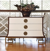 Global Views Sabre Chest-Ivory/Walnut