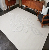 Global Views Scroll Rug-Ice Blue 6' x 9'