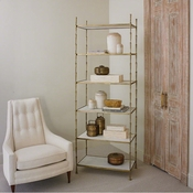 Global Views Spike Etagere w/ White Marble