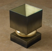 Global Views Squeeze Accent Table-Bronze