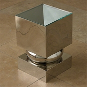 Global Views Squeeze Accent Table-Nickel