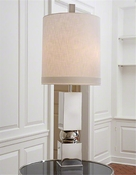 Global Views Squeeze Lamp-Nickel