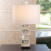 Global Views Stacked Gemstone Lamp-Short