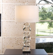 Global Views Stacked Gemstone Lamp-Tall