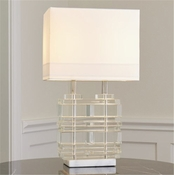 Global Views Stacked Slab Lamp
